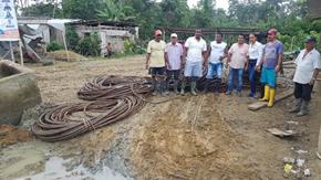 Foto: Población de Contreras recibe cable para reconstruir puente colgante